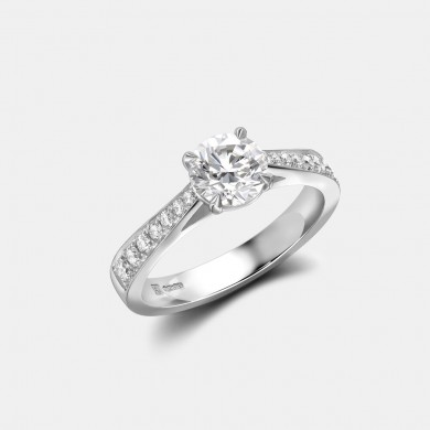 The Platinum 0.9ct Solitaire Ring