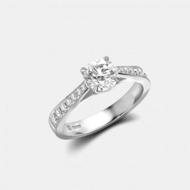 The Platinum 0.9ct Solitaire Ring