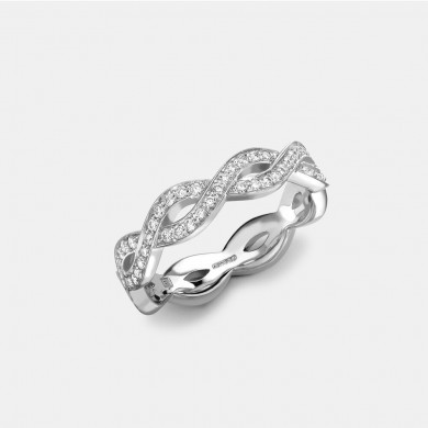 The White Gold Pavé Diamond Eternity Ring