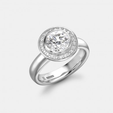 The Round Diamond Halo Ring