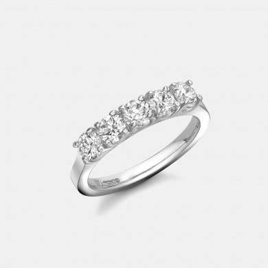 The Platinum Five Stone Diamond Ring