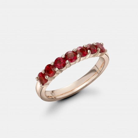 Rose Gold and Ruby Eternity Ring by Robert Bicknell.
