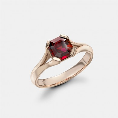 The Rose Gold and Rubellite Ring
