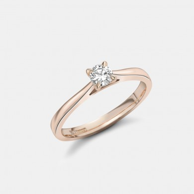 The Classic Rose Gold 0.25ct Solitaire Ring