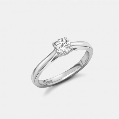 The Classic Platinum 0.50ct Solitaire Ring