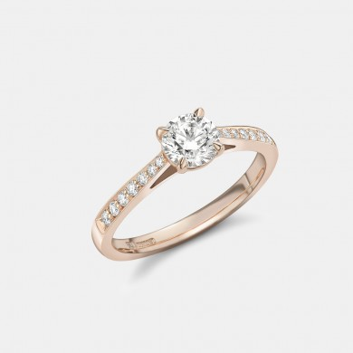 The Rose Gold 0.70ct Solitaire Ring