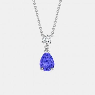 The Tanzanite and Diamond Pendant