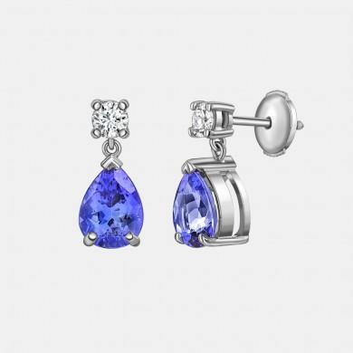 The Classic Tanzanite and Diamond Earrings