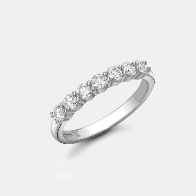 The White Gold Seven Stone Diamond Ring