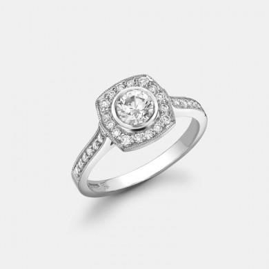 The White Gold Round Brilliant Diamond Ring