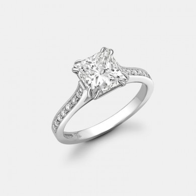 The 2.07ct Princess Cut...