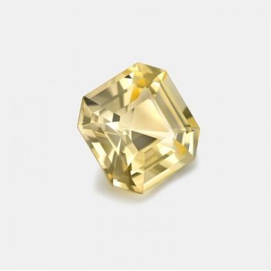 Asscher Cut Yellow Sapphire