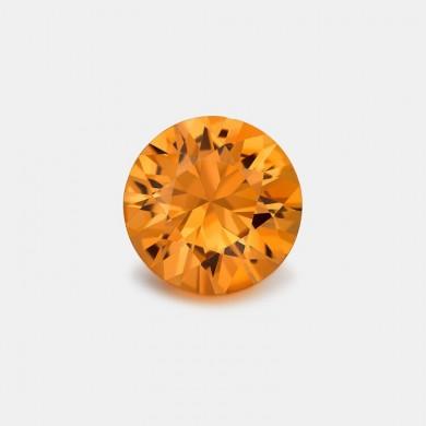 Round Orange Sapphire