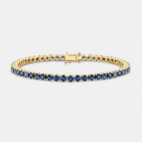 18ct Yellow Gold Sapphire Bracelet