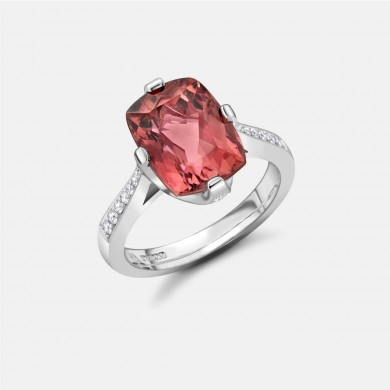 The Platinum, Rubellite Tourmaline and Diamond Ring