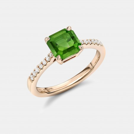 Limited edition green tourmaline ring