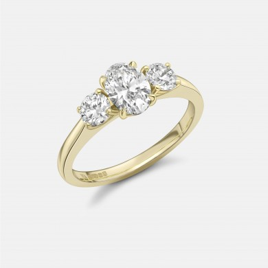 The Laboratory-Grown Diamond Oval Trilogy Ring