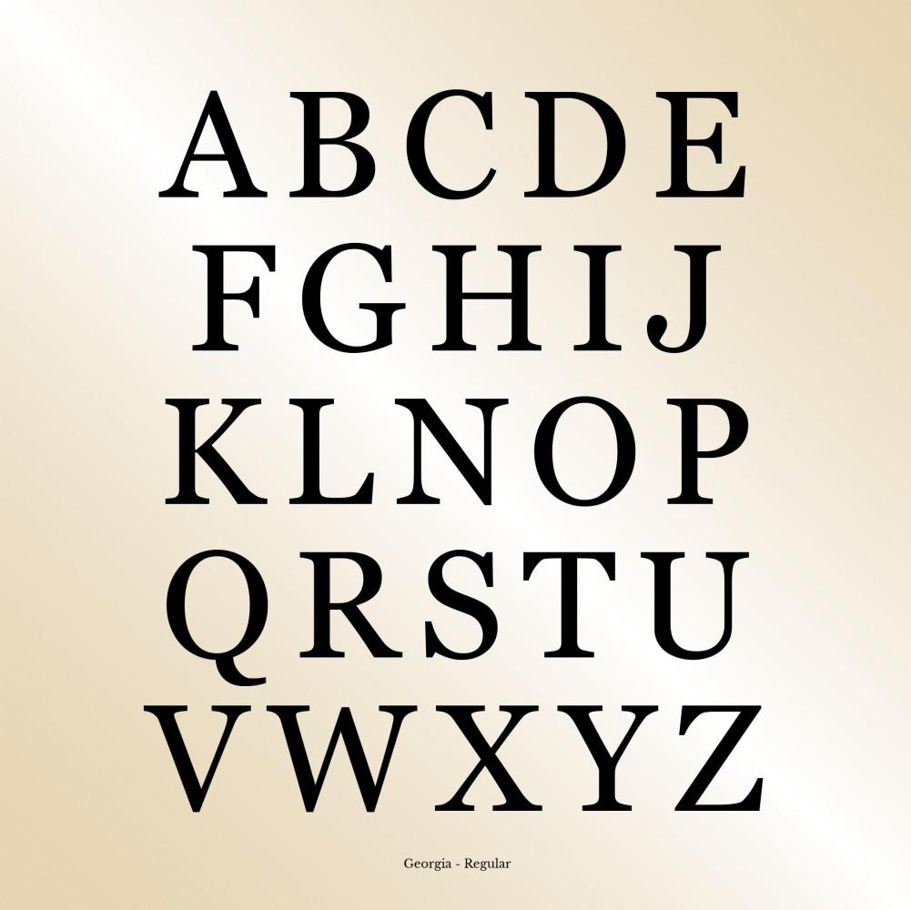 Modern Gold Disc Pendant Engraving Font Georgia
